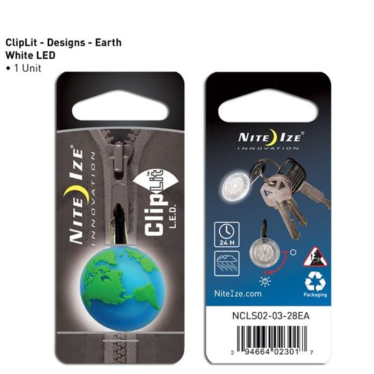 Niteize ClipLit LED Earth