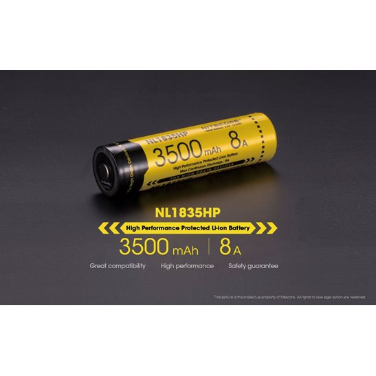 Nitecore 18650 Li-ion High Performance Battery (3500mAh) NL1835HP