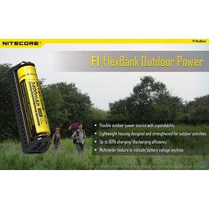 Nitecore F1 FlexBank Battery Charger & Power Bank