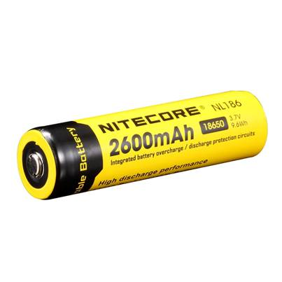 Nitecore 18650 Li-ion Battery (2600mAh) NL186