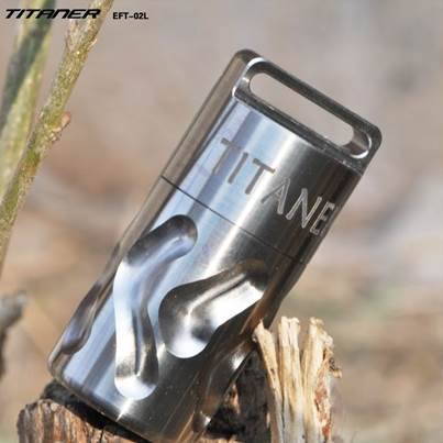 Titaner Carved Titanium Waterproof Canister