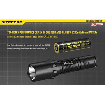 Nitecore NL188DW Battery for R25 Flashlight