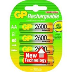 AA Ni-MH 2600mAh 1.2V Rechargeable Batteries - Pack of 4