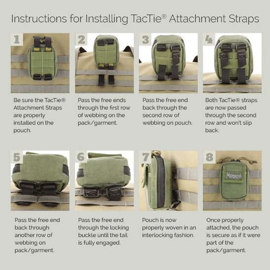 additional image for 3 Inch TacTie Straps - Pack of 4