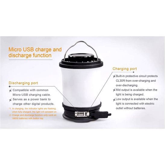 additional image for CL30R Rechargeable Camping Lantern