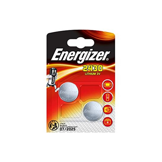 Energizer 2430 Lithium Batteries - 2 Pack
