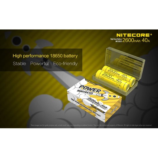 additional image for Flat Top IMR 18650 Li-Mn Battery 2600mAh