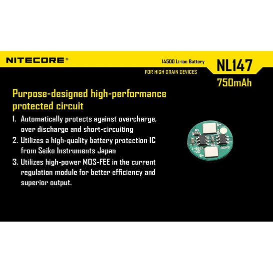 additional image for 14500 Li-ion Battery (750mAh) NL147