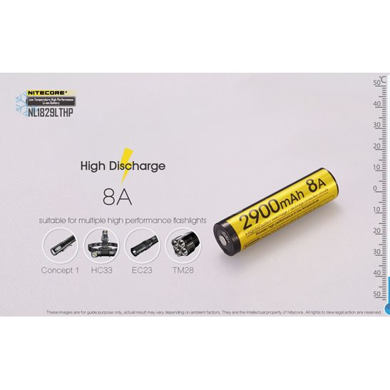 additional image for 18650 Li-ion Low Temperature High Performance Battery NL1829LTHP