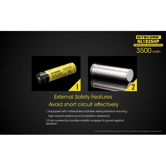 additional image for 18650 Li-ion High Performance Battery (3500mAh) NL1835HP