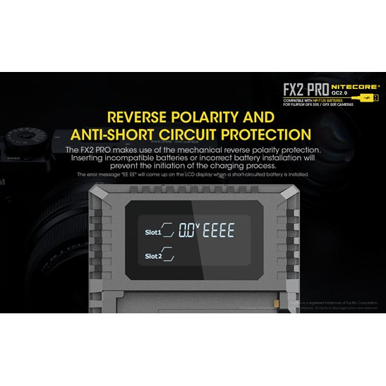 additional image for FX2 Pro Fujifilm Camera Charger
