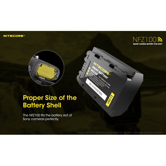 additional image for NFZ100 Smart Sony Camera Battery