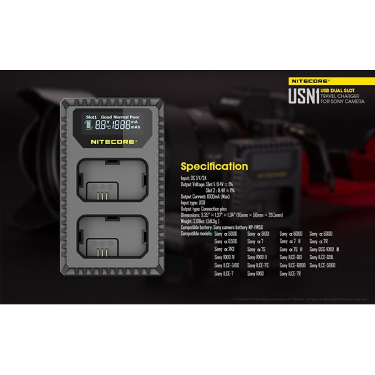 additional image for USN1 Sony Camera Charger