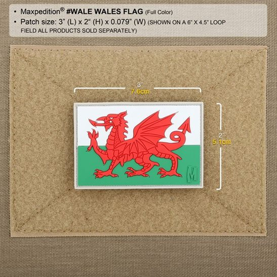 additional image for Welsh Flag Patch
