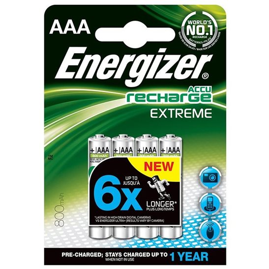 Energizer Accu Recharge Extreme AAA Ni-MH Batteries