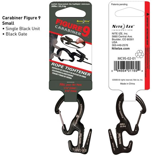 additional image for Figure 9 Carabiner & Rope Tightener - Small