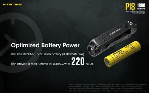 Nitecore P18 Battery