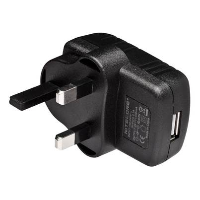 Nitecore USB to UK Plug Adapter