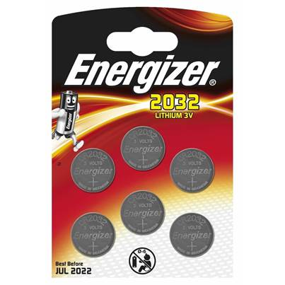 Energizer 2032 Lithium Batteries - 6 Pack