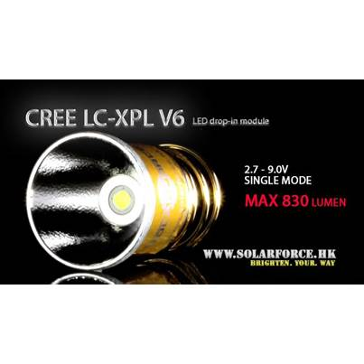 Solarforce LC-XPL V6 Single Mode 2.7-9V Drop In