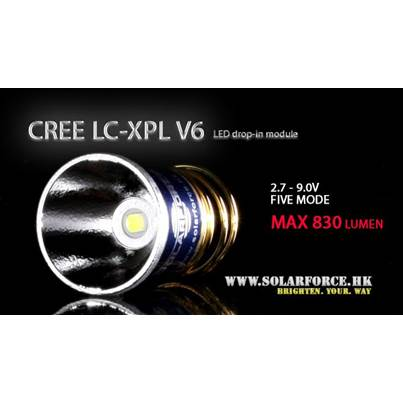 Solarforce LC-XPL V6 Five Mode 2.7-9V Drop In