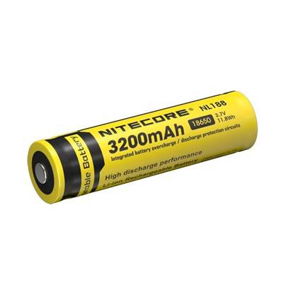 Nitecore 18650 Li-ion Battery (3200mAh) NL188