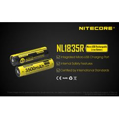 NL1835R Micro-USB 18650 3500mAh Li-ion Battery