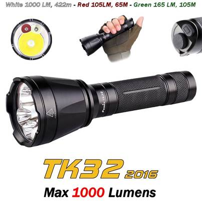 Fenix TK32 2016 Tri-Colour Flashlight