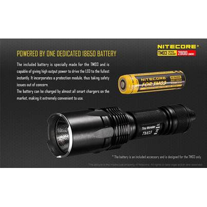 Nitecore IMR 18650 Rechargeable Battery for TM03 Flashlight