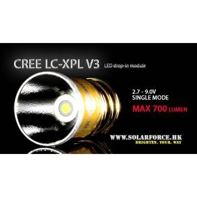 Solarforce LC-XPL V3 Single Mode 2.7-9.0V Drop In