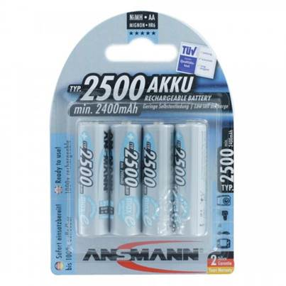 Ansmann AA Ni-MH Rechargeable Batteries