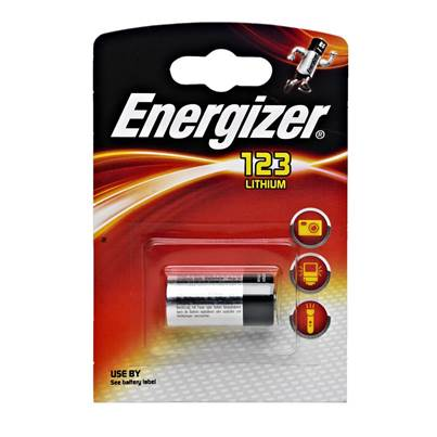 Energizer CR123 Lithium Batteries - 6 Pack