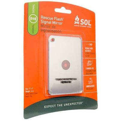 SOL Rescue Flash Signal Mirror