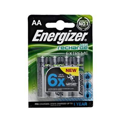 Energizer Accu Recharge Extreme AA Ni-MH Batteries